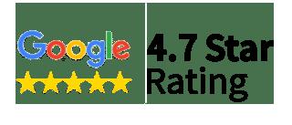 Google 4.7 star rating